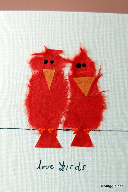 love birds Valentine's Day card   NoBiggie.net