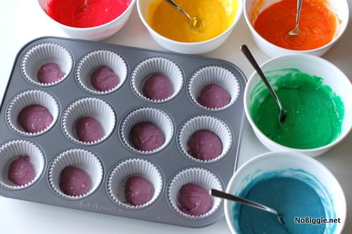 make rainbow cupcakes | NoBiggie.net