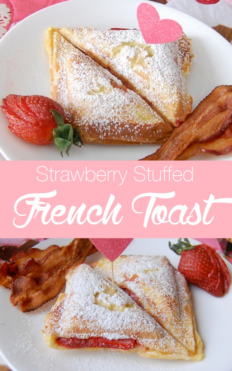 Strawberry stuffed french toast - a delicious breakfast your family will enjoy. #frenchtoast #strawberry #stuffedfrenchtoast #breakfastideas #breakfast