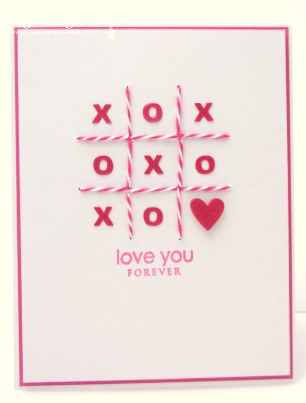 tic tac toe xo card
