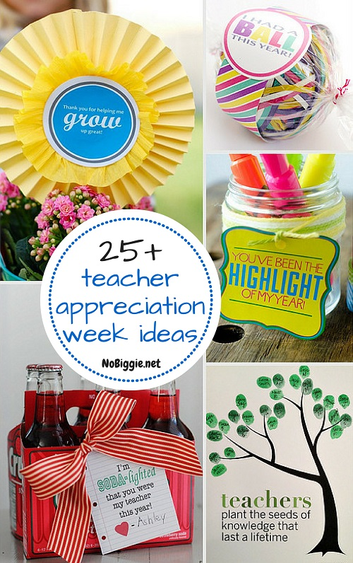 25+ teacher appreciation week ideas | NoBiggie.net