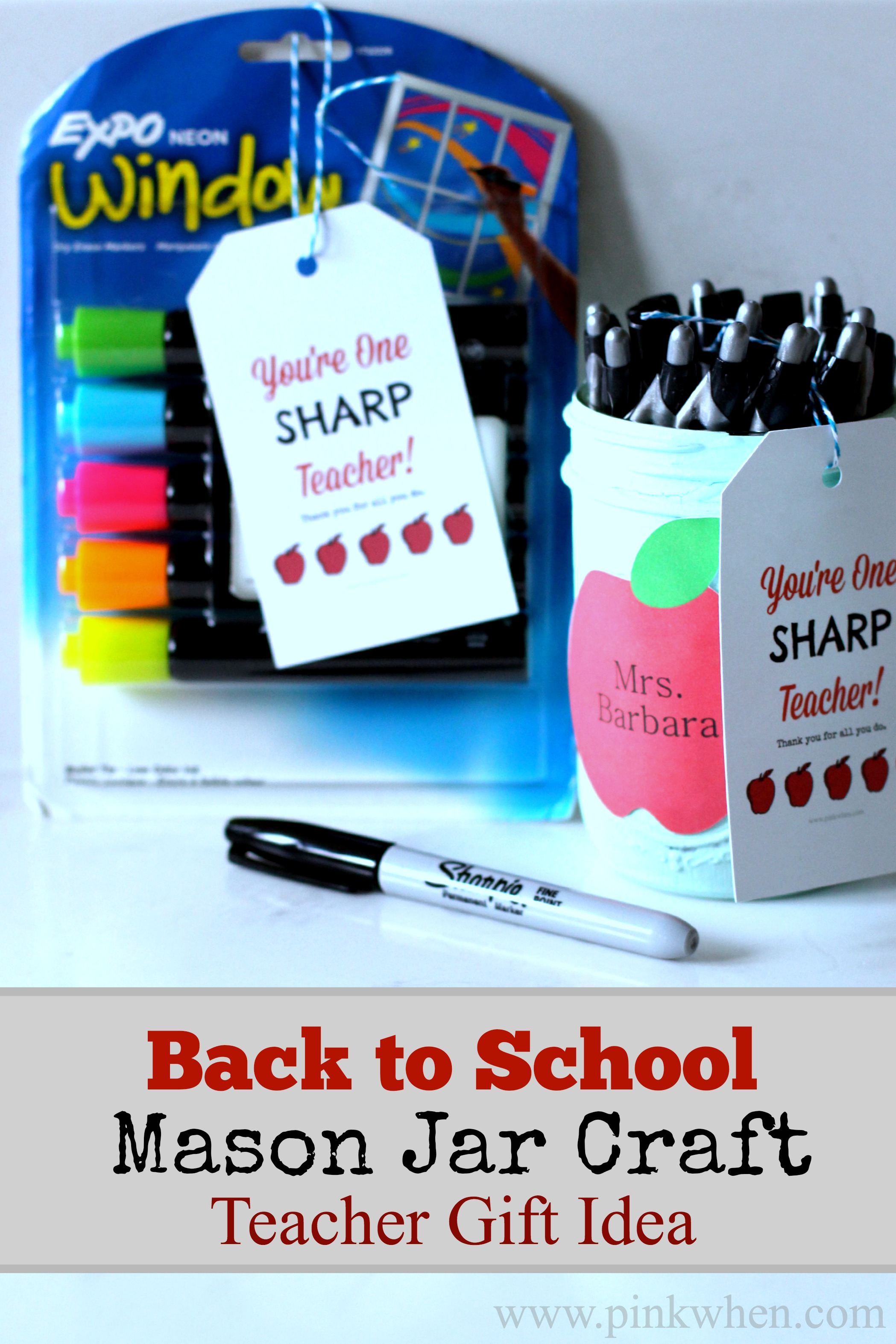 Back to School Mason Jar Craft | 25+ teacher appreciation week ideas