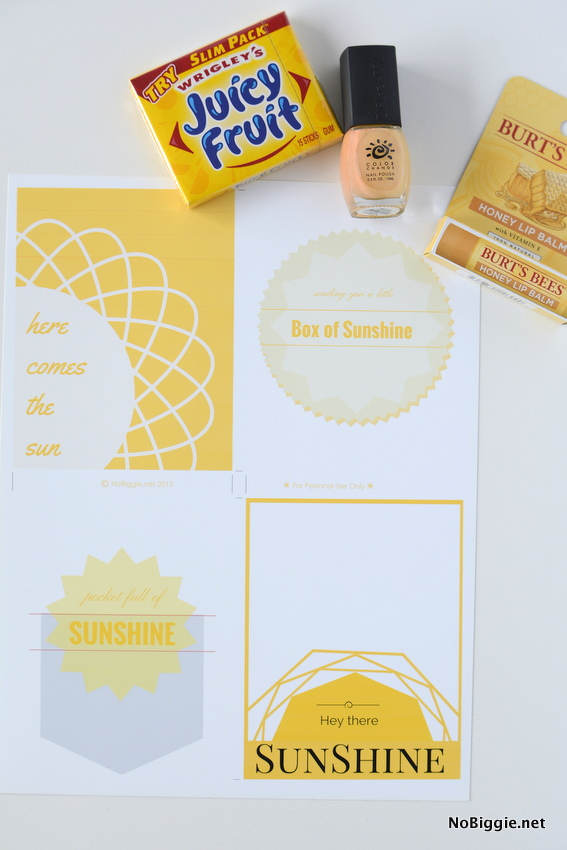 image about Box of Sunshine Printable known as Ship a Box of Sun (totally free printables)