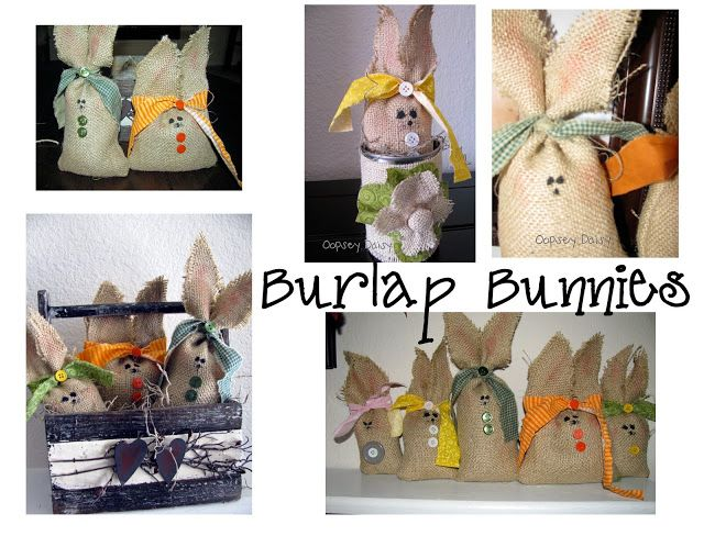 Burlap Bunnies | 25+ Easter and Spring Decorations