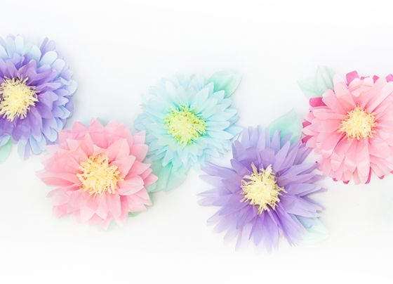 DIY Tissue Flowers | 25+ Easter and Spring Decorations