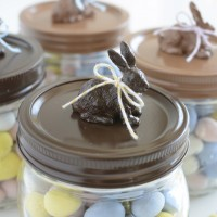 DIY chocolate Easter Bunny Jars | NoBiggie.net