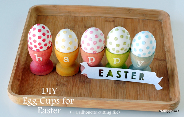 DIY stained egg cups (with free silhouette file) | 25+ ways to decorate Easter Eggs