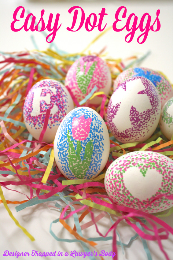 Dotted Easter Eggs | 25+ ways to decorate Easter Eggs