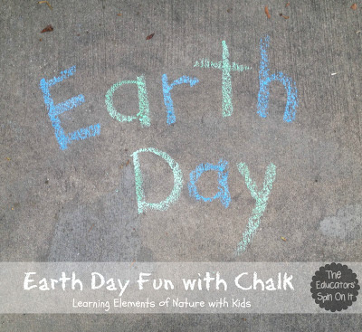 Earth Day Play with Chalk | 25+ ways to celebrate Earth Day