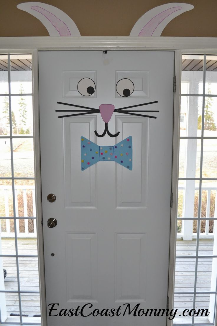 Easter Bunny Door Decorations | 25+ Easter and Spring Decorations