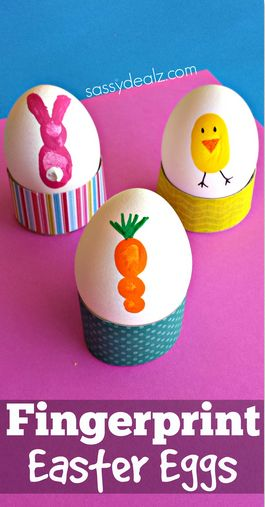 Fingerprint Easter Eggs | 25+ ways to decorate Easter Eggs