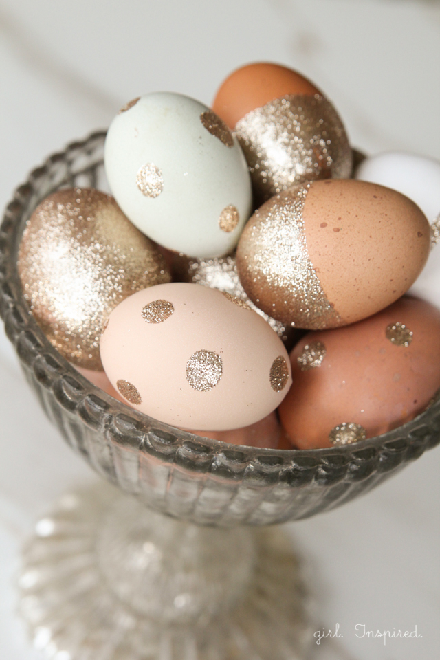 Glitter Easter Eggs | 25+ ways to decorate Easter Eggs