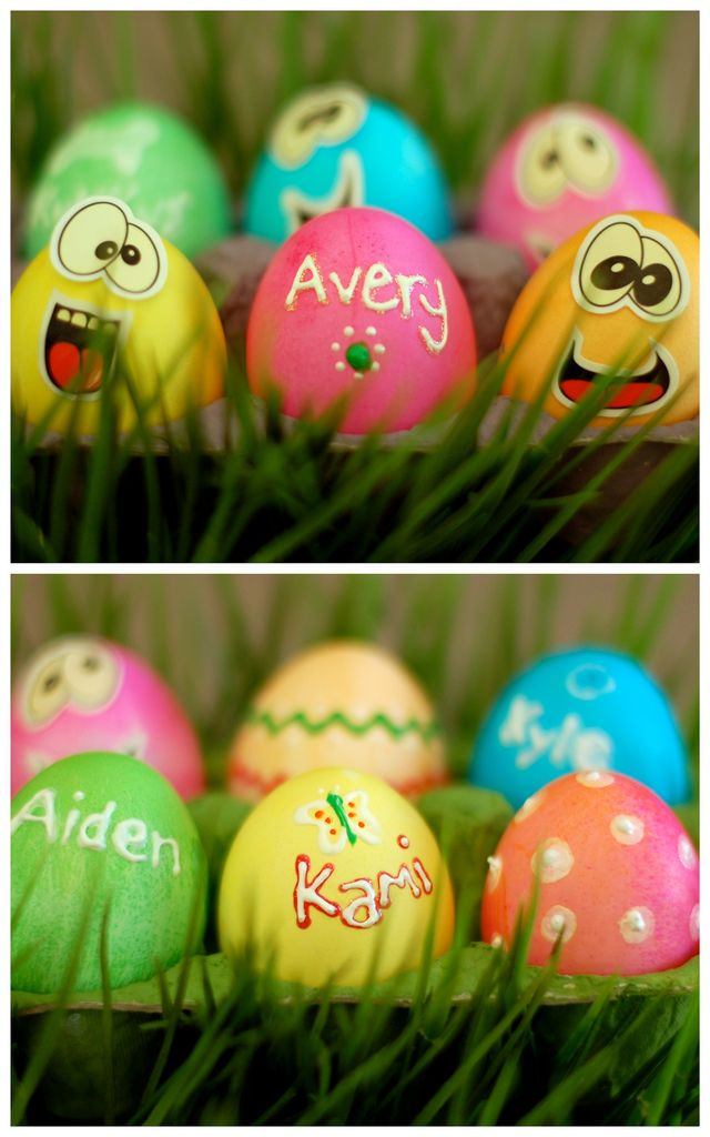 Puffy Paint Easter Eggs | 25+ ways to decorate Easter Eggs