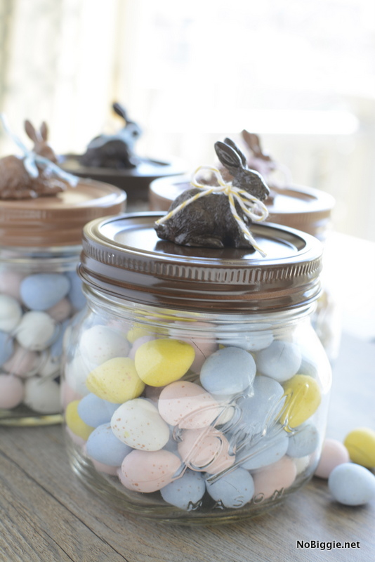 Chocolate Bunny Mason Jars
