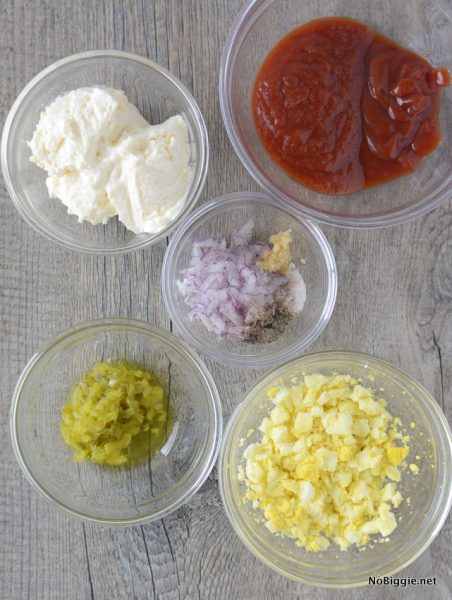 Ingredients for Homemade Thousand Island Dressing | NoBiggie.net