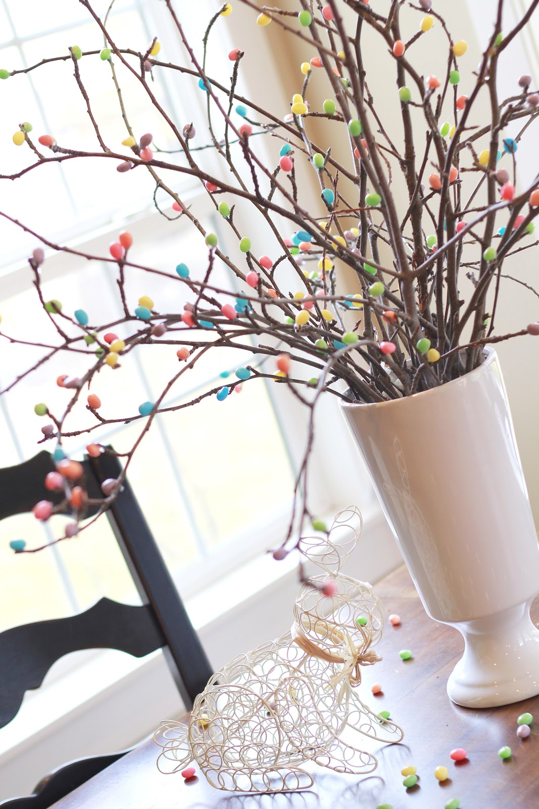 Spring butterfly pasta decor 25 easter and spring decorations - Jelly Bean Tree 25 Easter And Spring Decorations