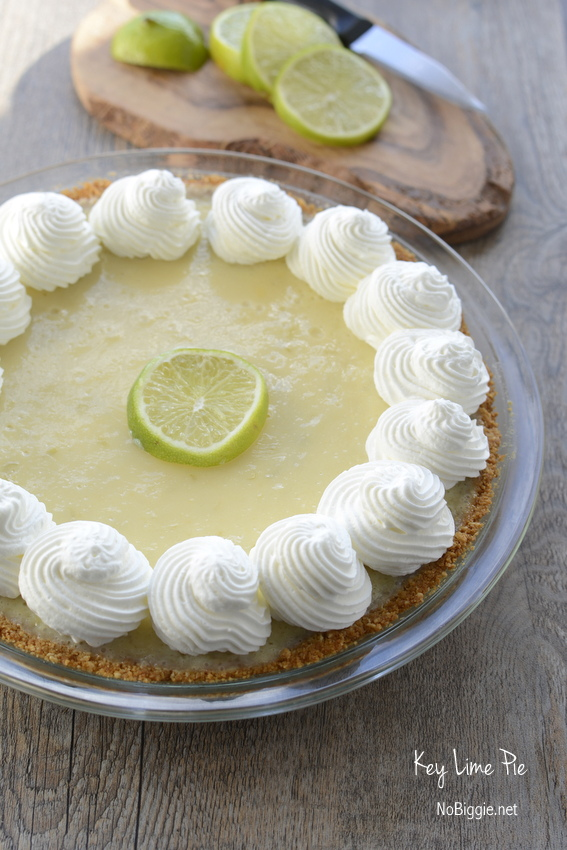 Key Lime Pie is both tart and creamy and pure heaven. #keylimepie #piday #pie #keylime