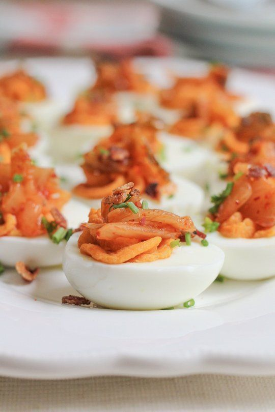 Kimchi Deviled Eggs | 25+ Deviled Egg Recipes