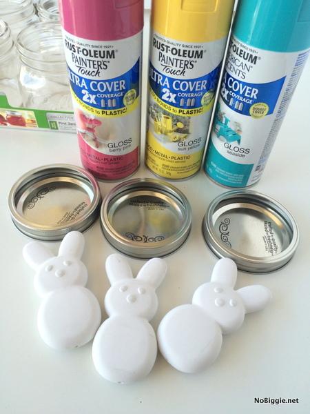 Peeps Bunny jar toppers | NoBiggie.net