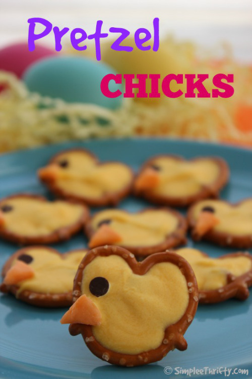Pretzel Chicks | 25+ Easter sweet treats