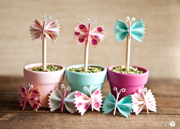 Spring Butterfly Pasta Decor | 25+ Easter and Spring Decorations