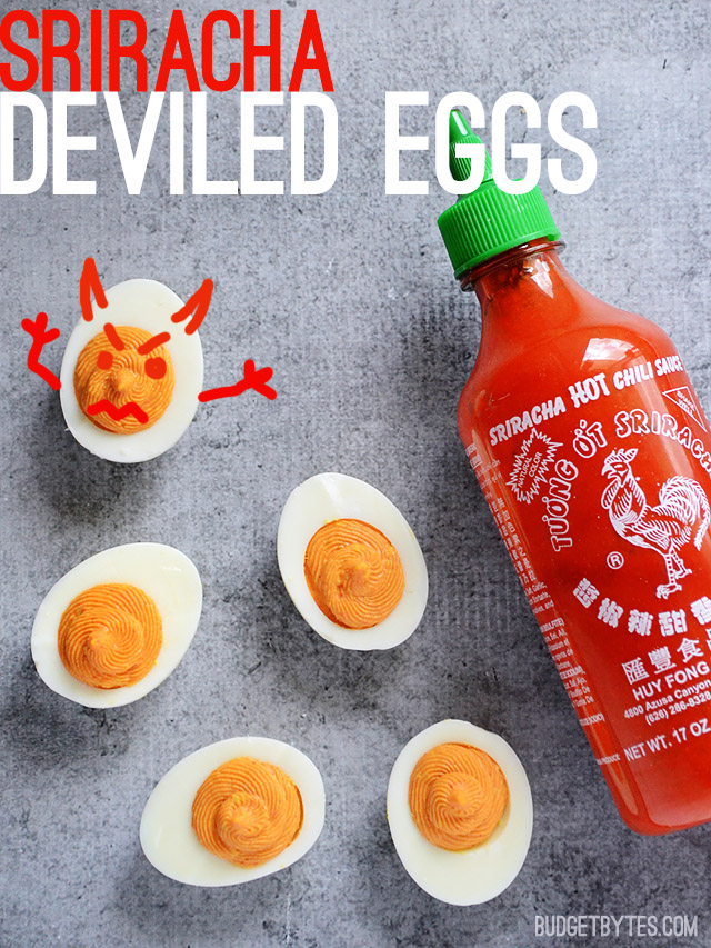 Sriracha Deviled Egg   25+ Deviled Egg Recipes