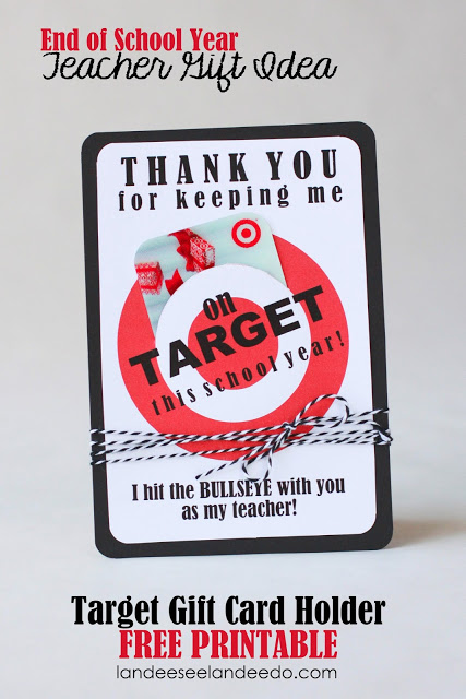 Target Gift Card Holder | 25+ teacher appreciation week ideas