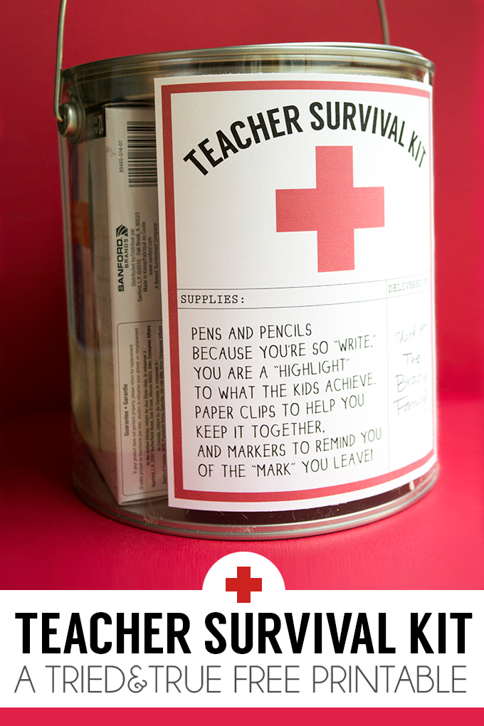 Teacher Survival Kit | 25+ teacher appreciation week ideas