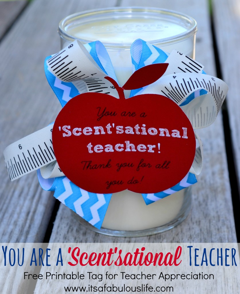 Scent-sational Teacher print | 25+ teacher appreciation week ideas