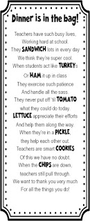 Teacher Appreciation Sandwich Poem | 25+ teacher appreciation week ideas