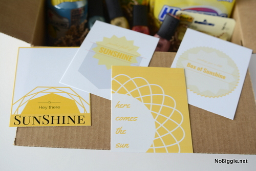 photograph relating to Basket of Sunshine Printable called Send out a Box of Solar (absolutely free printables)