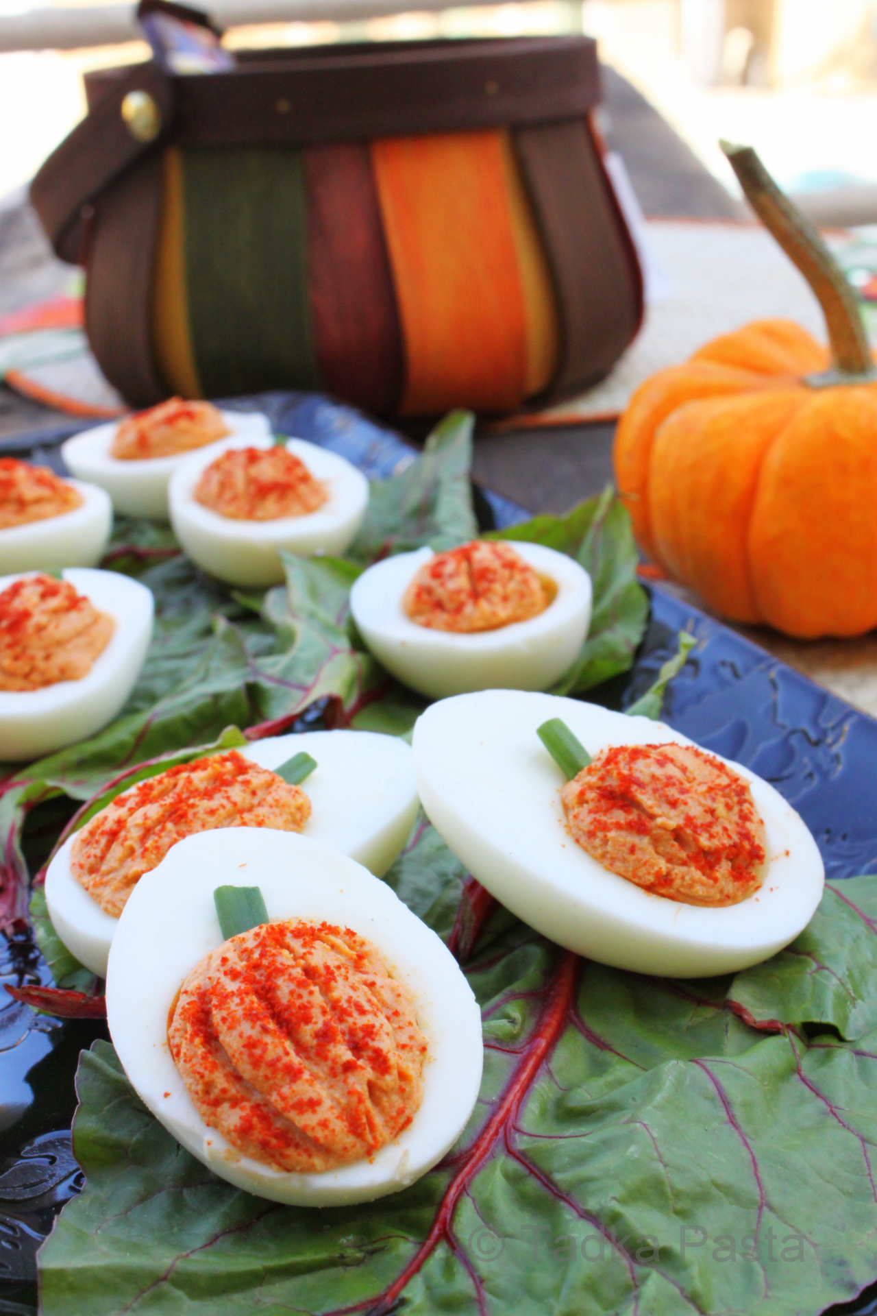 deviled egg pumpkins | 25+ Deviled Egg Recipes