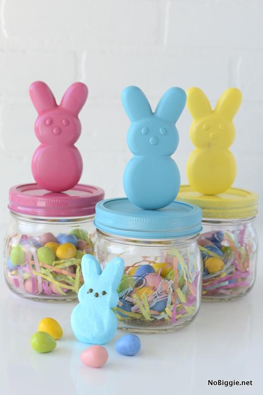 easy DIY peeps bunny jars | NoBiggie.net