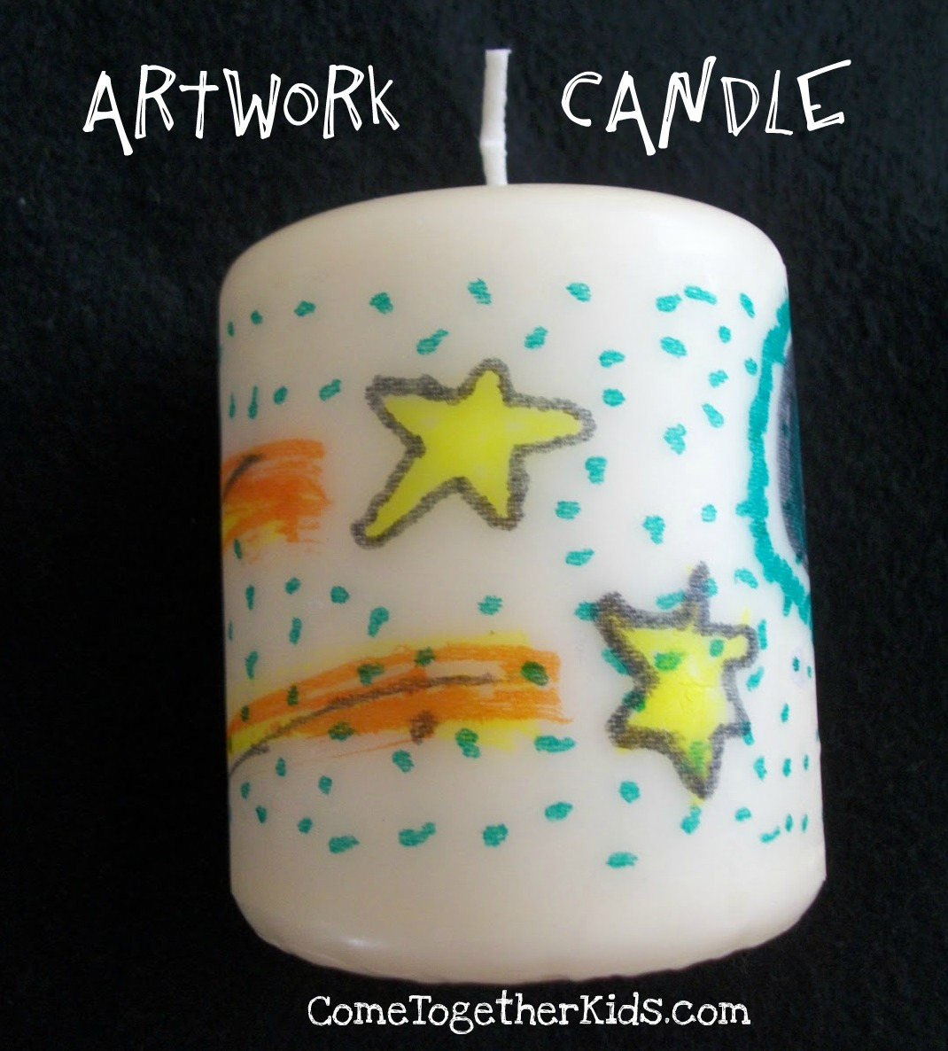 Artwork Candle | 25+ Mother's Day Gift Ideas