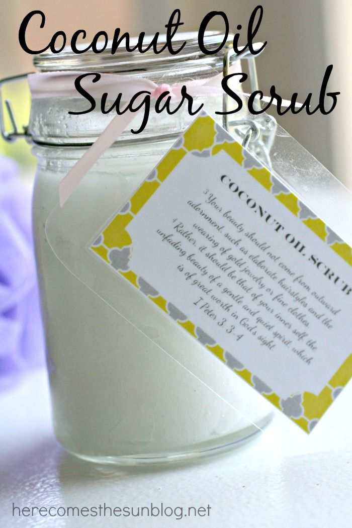 Coconut Oil Sugar Scrub | 25+ Mother's Day Gift Ideas