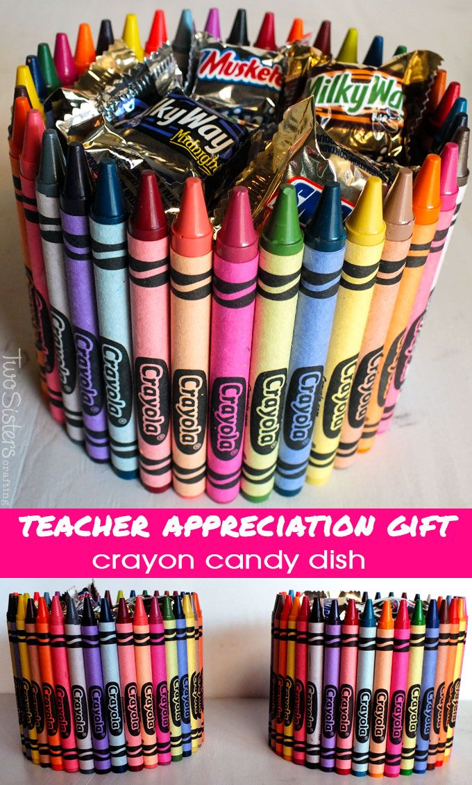Crayon Candy Dish | 25+ MORE Teacher Appreciation Week ideas