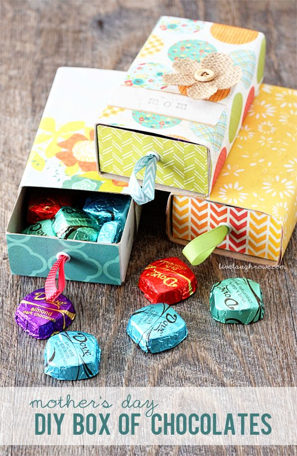 DIY Box of Chocolates | 25+ Mother's Day Gift Ideas