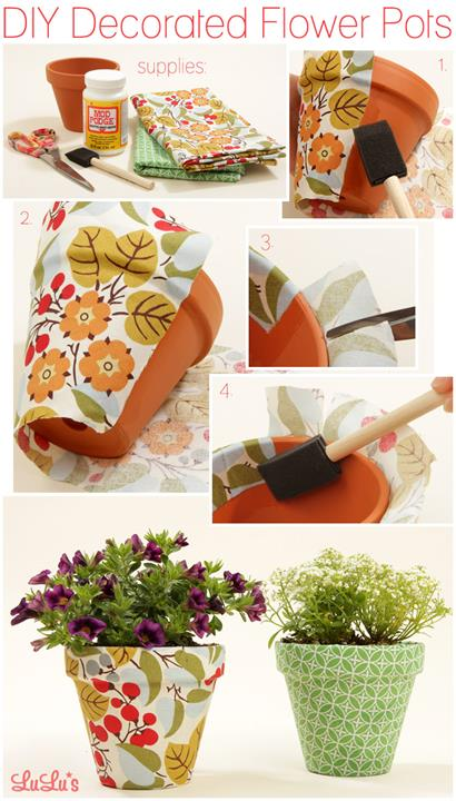 DIY Decorated Flower Pots | 25+ May Day ideas