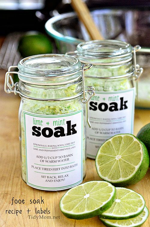 DIY Foot Soak Recipe | 25+ Mother's Day Gift Ideas