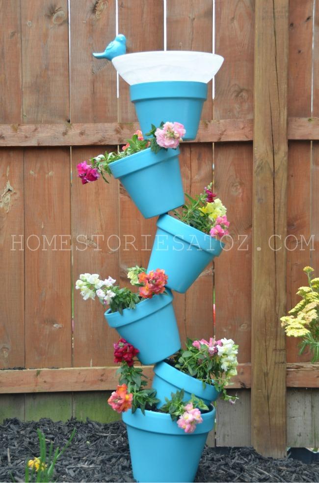 DIY Garden Planter & Birds Bath | 25+ May Day ideas