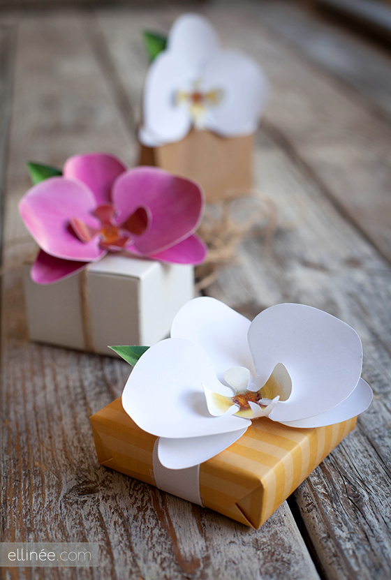 DIY paper orchid | 25+ May Day ideas