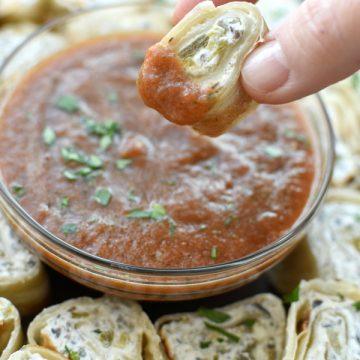 Easy no cook Tortilla Rollups