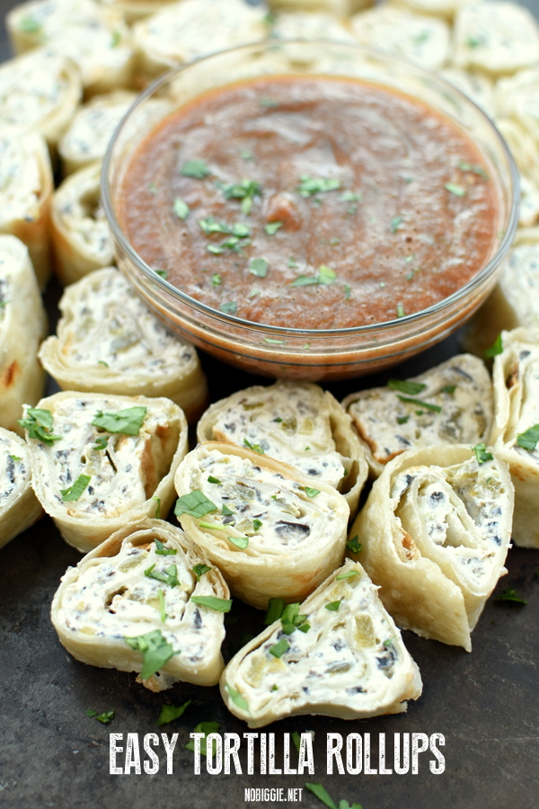 Easy no cook Tortilla Rollups