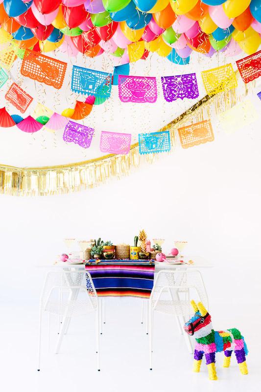 Fiesta Balloon Ceiling | 25+ Cinco De Mayo Ideas