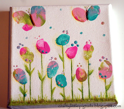 Fingerprint flowers and Butterfly thumbs | 25+ May Day ideas
