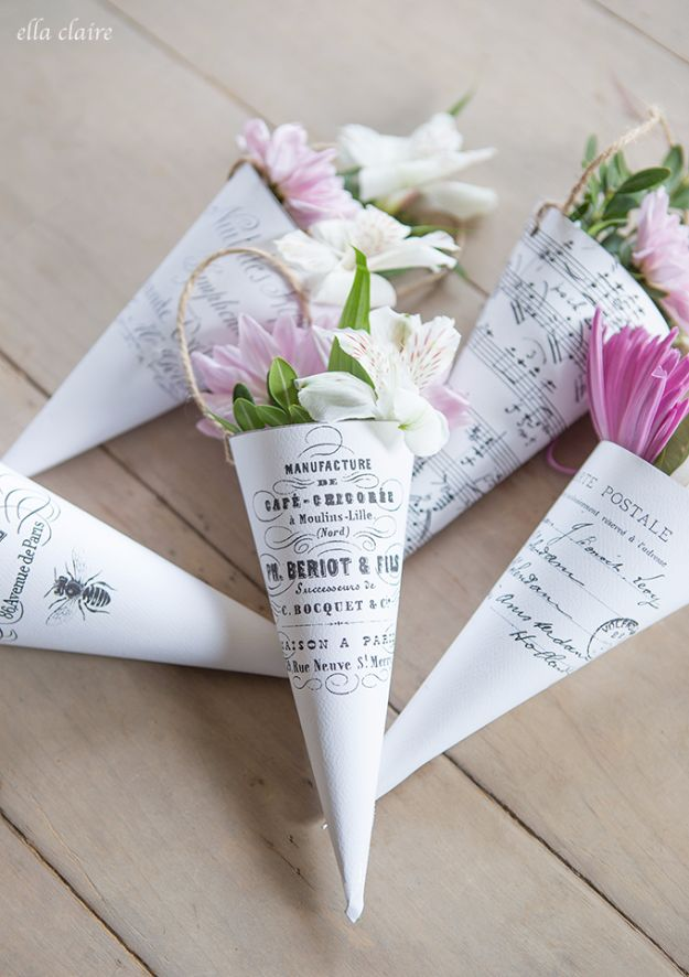 May Day Flower Cones printable | 25+ May Day ideas