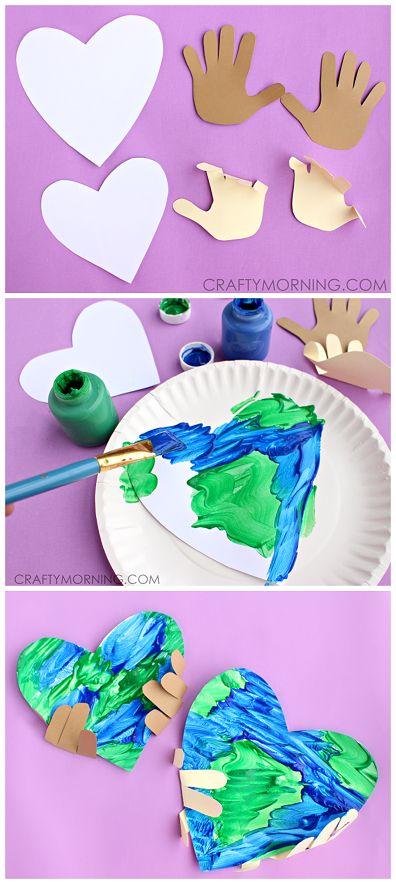 Handprint Earth Day craft   25+ Earth Day ideas