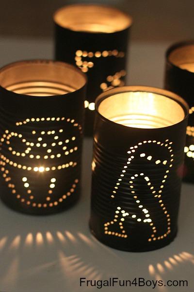 How to make star wars tin can lanterns | 25+ ways to celebrate Star Wars Day