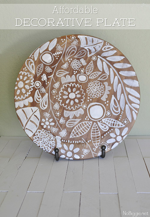 Floral Decorative Plate | 25+ May Day ideas | NoBiggie.net