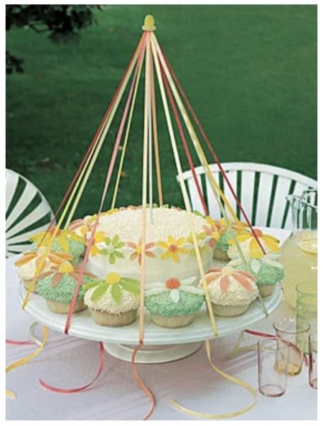 Martha Stewart Maypole Cake | 25+ MayDay ideas